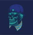 skull head cap vector image