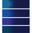 spray paint banner detail in blue over deep blue vector image vector image