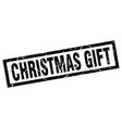 square grunge black christmas gift stamp vector image vector image