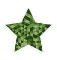 Star Mosaic Icon vector image vector image