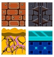 Textures for Platformers Icons Set with vector image
