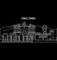 tivoli silhouette skyline italy - tivoli vector image vector image