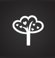 tree of love on black background vector image