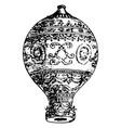 vintage engraving a a hot air balloon vector image vector image