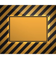 warning sign background vector image
