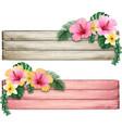 watercolor wooden vintage banner striped vector image vector image