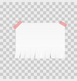 white advertisement tear-off paper template on vector image