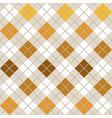 yellow argyle harlequin seamless pattern vector image vector image