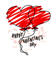 Hand drawn hearts balloon for valentines day vector image
