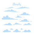 blue simple clouds vector image