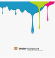 Dropping colorful background vector image