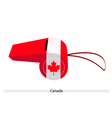 A Beautiful Blue Whistle of Canada Flag vector image vector image