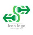 arrow letter c green design symbol vector image
