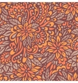 Autumn flowers Seamless decorative pattern vector image vector image