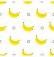 banana seamless pattern bananas with circles vector image vector image