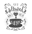 banner coffee with handlettering poster vector image