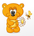 Bear with Flower vector image vector image