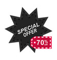 black friday tags for discount promotions icon vector image vector image