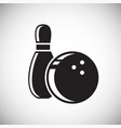 bowling icon on white background for graphic and vector image vector image