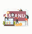 brand concept flat style design vector image