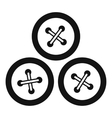 Buttons for sewing icon simple style vector image