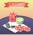 casino board games isometric composition vector image