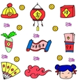 chinese new year doodles vector image vector image