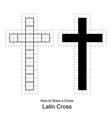 christian cross vector image vector image