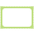 classic green outline style border vector image vector image