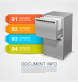 closet safe with documents info vector image vector image