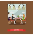 Couple having lunch in restaurant concept vector image vector image
