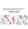 creative idea and innovation background creative vector image