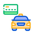 credit card payment for taxi services online icon vector image
