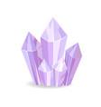 crystalic stone purple color vector image