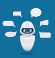 cute future chat bot with text bubbles vector image vector image