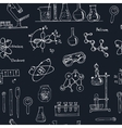 Doodle Science Lab Objects Seamless Pattern Back vector image