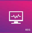 ecg heart diagnostics icon vector image vector image