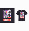 enjoy the summer stylish graphic tee design vector image