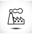 factory line icon vector image