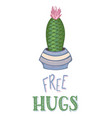 free hugs card template vector image