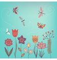 Garden flowers vector image