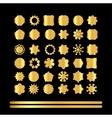 Gold mandala set vector image vector image