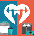 gym poster weight protein food poster vector image vector image