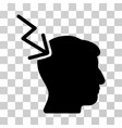 head electric strike icon vector image
