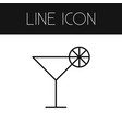 isolated cocktail outline martini element vector image vector image