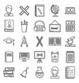 lesson teacher icons set outline style vector image vector image