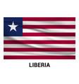 liberia flags design vector image vector image