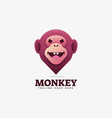 logo monkey gradient colorful style vector image vector image