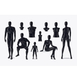 Mannequins set vector image vector image