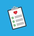 medical clipboard icon vector image vector image